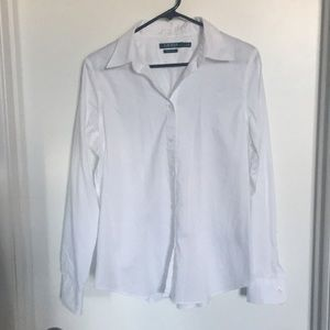 Ralph Lauren classic non iron white button up